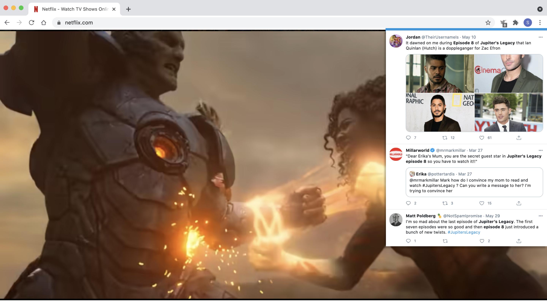Twitter Extension Netflix