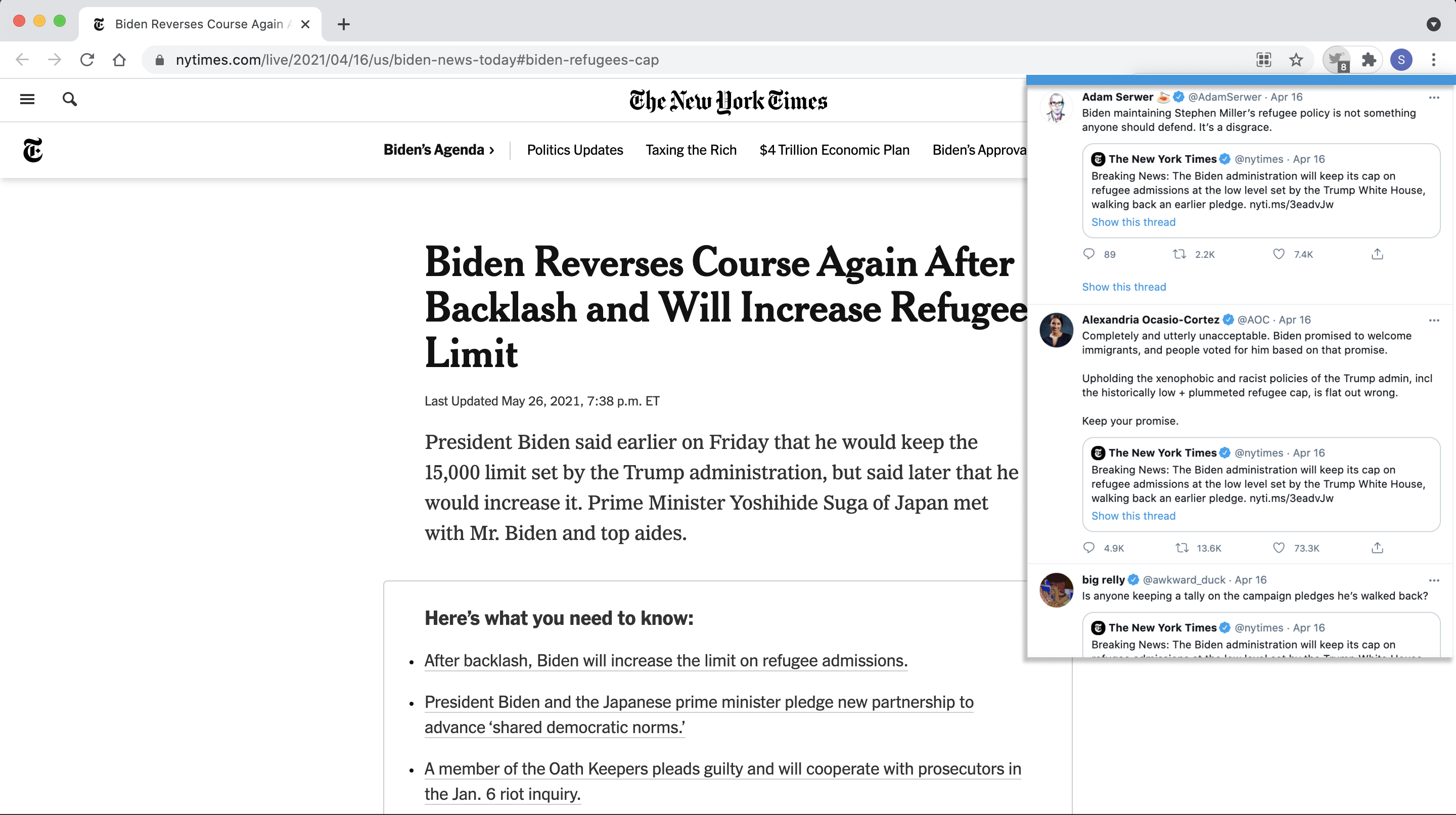 Twitter Extension NYT